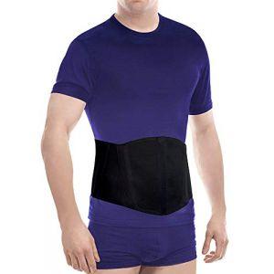 Ceinture abdominale pour hernie ombilicale avec bandage amovible botte de nombril hommes et femmes Abdominal ergonomique réglable soutien - BLACK LARGE (TOROS GROUP, neuf)