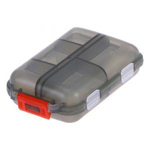 ULTNICE Boîte à pilules Portable avec 10 Compartiments amovible Pilulier de poche en plastique en forme d'ovale pour Camping Voyage (Harauws, neuf)