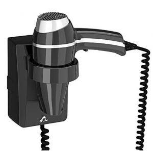 Sèche-cheveux Hotel salle de bain - 1400 W avec support base à connecter (POLE-ACHAT, neuf)