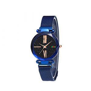 Montre Femme Femmes montre-bracelet de luxe élégant montre à quartz étoilé de la montre à quartz de bande de femme (AiSiWeiDianZi, neuf)