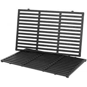 GFTIME 7526 Grille de Cuisson 30 x 43,8 cm Pièce de Rechange pour Gril en Fonte pour Les modèles de Gril Weber Spirit 300 Spirit 700 Genesis 1000-3500 (avec Boutons de Commande latéraux), Paquet de 2 (Bar.b.q.s, neuf)