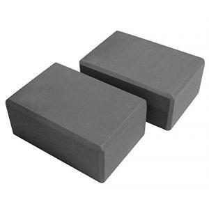 VLFit Lot de 2 Briques de Yoga de VLFit - Choix de Couleur- (2 PC) Bloc en Mousse EVA (GRIS) (VeeLeisure, neuf)