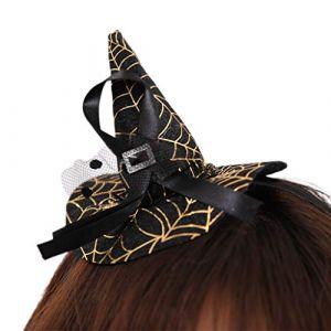 Liuxia Mini chapeau de sorcière en toile d'araignée pour déguisement, cosplay, carnaval, fête (LIUXIA, neuf)