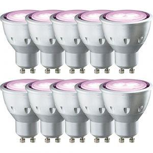 10x Paulmann Ampoule Réflecteur LED 5W GU10Rose 30° (ncc-design, neuf)