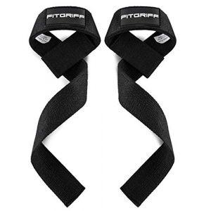 Fitgriff® Sangles de Levage de Musculation (Rembourré), Sangle Poignet, Sangle de Tirage Musculation - pour Femmes et Hommes - Black (Fitgriff, neuf)