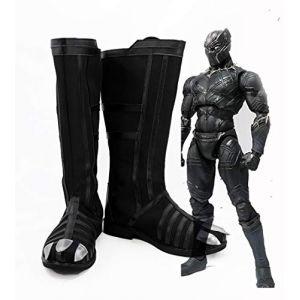 Captain America guerre civile Cosplay bottes de panthère noire chaussures de Cosplay accessoires de héros chaussures de carnaval d'halloween 38 (sipingshihengdeshangmao youxiangongsi, neuf)