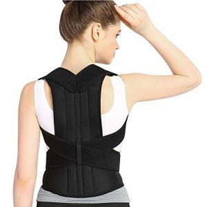 Attelle arrière de soutien de posture de thérapie magnétique, support d'attelle arrière de correcteur de posture pour la taille arrière d'épaule, unisexe (Longzhuo Sheng Firm, neuf)