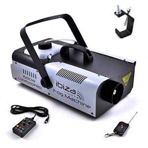 Machine à fumée PRO programmable Club DJ Sono DMX 1500W Ibiza Light LSM1500PRO + Crochet Fixation (PACK-MANIA, neuf)