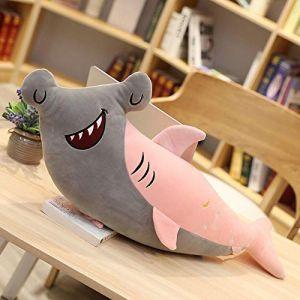 Peluche jouet smiley requin baiser requin mignon créatif animal marin poupée enfants cadeau-Requin bisou rose_50 cm (lizhaowei531045832, neuf)