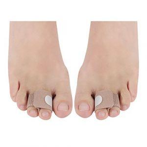 SUPVOX Orteils attelle lisseur cassé orteils enveloppes bandages rembourrés marteau orteil séparateur attelles pour doigt de marteau blessé blessé orteil (Amerponga, neuf)