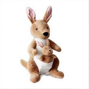 Peluche animal en peluche mignon et intéressant kangourou rembourré canapé oreiller enfants cadeau d'anniversaire de Noël 36 cm (lizhaowei531045832, neuf)