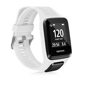 kwmobile Bracelet Compatible avec Tomtom Adventurer/Runner 3/Spark 3/Golfer 2 - Bracelet de Rechange en Silicone pour Fitness Tracker Blanc (KW-Commerce, neuf)