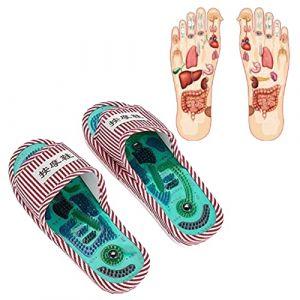 Acupressure Massage Pantoufles, thérapie magnétique Chaussures de massage Pantoufles de massage Soins de santé Activation du sang Relaxation du pied Chaussures de massage pour hommes et femmes(Frau) (Yotown-eu, neuf)