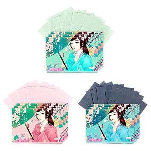 Papiers de buvard de maquillage de double face visage papier absorbant l'huile ensemble, 300 feuilles (C) (Koala Superstore EURO, neuf)