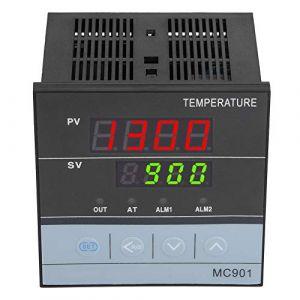 Contrôleur de Température PID, MC901 Régulateur de température PID Numérique Type K Sonde d'Entrée PT100 Relais SSR Sortie (tanusuk, neuf)