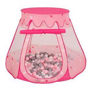 Selonis Tente 105X90cm/200 Balles Château avec Les Balles Plastiques Piscine À Balles pour Enfants, Rose: Perle-Gris-Transparent-Rose Poudré (OtherEden &  DUmalDU, neuf)