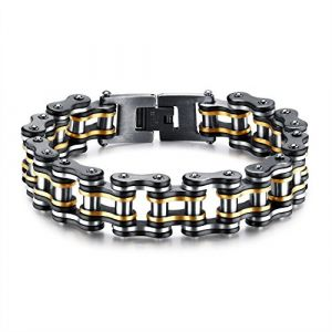 bigsoho - Bracelet chaîne de moto en acier inoxydable - Pour homme (bigsoho, neuf)