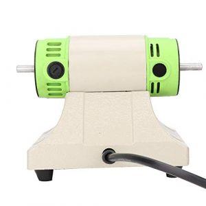 Polisseur exquis portatif, machine de tampon de polissage de banc + machine de polissage de bijoux avec 2 roues de polissage(EU220V) (Betued, neuf)