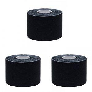 Ziatec pro bande de kinésiologie physiothérapie-tape - kinesiologie-tape - Tape de Kiensiologytistant, couleur:3 x noir (SFH TRADING, neuf)