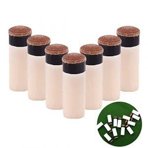Tangger 20 Pièces Embouts de Queues 13 mm Conseils pour Le Remplacement Billard à Visser à Pointes avec de Billard bâton Embouts, Marron (Tangger, neuf)