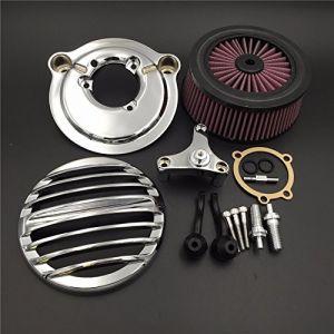 HTT Kit de filtre d'admission d'air pour moto Harley Davidson à partir de 2007 XL Sportster 1200 Nightster 883 XL883 Low XL1200L Seventy Two Forty Eight (HTT Group LLC, neuf)