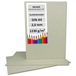 Livre de Fils en carton format A4–Épaisseur 2mm–Grammage?: 1230g/m² | Format?: 29,7x 21,0cm | couleur?: gris/marron (GUSTAV NEUSER GmbH, neuf)