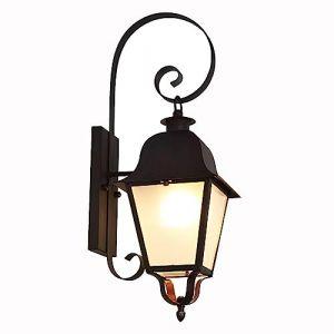 Wylolik Américain Pays Grange Étanche Applique Murale Extérieure Noir Métal Rustique Extérieur Applique Murale en Col de Cygne Clair Abat-Jour en Verre Lanterne Rétro Extérieur Ancien Porche Ferme Mur (kaixiluodianzishangwuyouxiangongsi, neuf)
