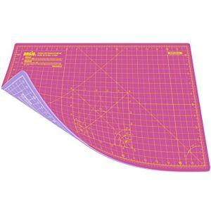 Ansio A3 Tapis de Découpe à Double Face Auto-cicatrisant à 5 Couches de impérial/métrique 17 Pouces x 11 Pouces / (42 cm x 27 cm) - Super rose/violet lavande (ANSIO Direct, neuf)