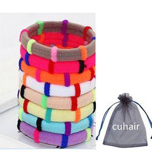 Cuhair (tm) 10pcs Elastic Hair Bands cravate en caoutchouc Caddie Ponytail Holder Enfants tissu enfant femme enfant Enfant Accessoires pour cheveux Scrunchie cadeau Diamètre 4.5cm (cuhair, neuf)