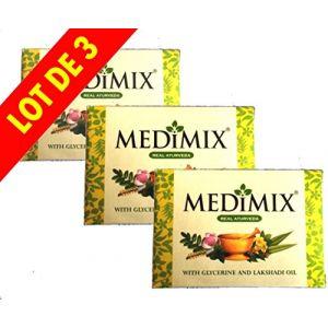 Medimix - Medimix Cholayil Savon Medimix Ayurvédique Glycérine et Lakhadi - Savon Bio - Export Quality - 125g - Lot de 3 Savons VC (ELEGANCE INDIAN STORE, neuf)