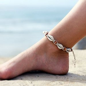Aukmla Bracelets de cheville Pied 2pcs Style vintage Beach Pied Chaîne (Simsly-UK, neuf)