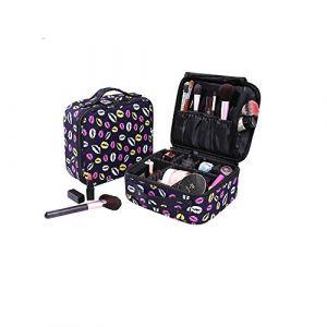 Exepests Cloison amovible for femmes portable étanche à l'eau de cas de voyage portable de stockage de cosmétiques sac de cosmétiques sac de rangement de chambre à coucher boîte de rangement de bijoux (Little dolphin Trade, neuf)