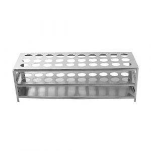 Porte-Tubes en Aluminium, ?18.5mm×30 Positions Support Tubes à Essai, Porte-Éprouvettes de Laboratoire (XRICH, neuf)