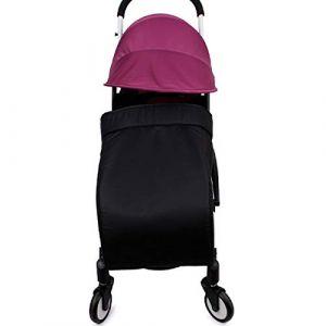 Diuspeed Housse de poussette, accessoires de poussettes universels tissu 300D chaud et coton chaud étanche couvre-pied, soleil et couverture UV parasol pour poussettes bébé (noir) 60x40cm (Diuspeed, neuf)