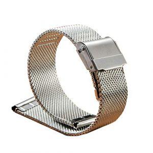 WSLCN Bracelet De Montre en Acier Inoxydable Vintage Rétro Bracelet Montre de Grain Bande à Dégagement Rapide pour Homme Femme A 22mm (light-in-the-dark, neuf)
