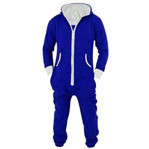 L-Peach Unisexe Pyjamas Combinaison Zippée à Capuche Adulte Jogging Onesie Cosplay Costume Bleu L (Little-Peach, neuf)