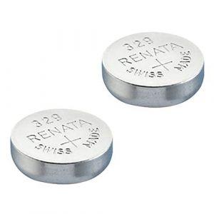 2x Batterie Montre Renata poignet-Fabriqué en Suisse-Sans Piles oxyde d'argent 0% Mercure Renata Pile bouton 1,55V piles longue durée (FOTON, neuf)