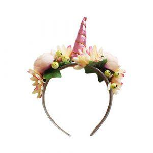 Beaupretty Bandeau de Corne de Licorne Oreilles de Fleur Bandeaux de Licorne pour Les Fournitures de Fête D'anniversaire (lorianca, neuf)