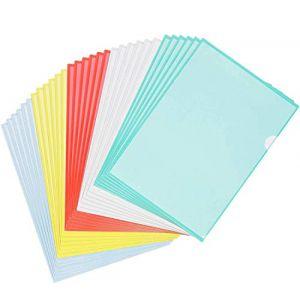 STARVAST 30 Pcs Chemise Plastique A4 - Pochette Porte Document A4,pour Classification Documents - 31X22cm - Couleurs Assorties (StarVast, neuf)
