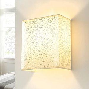 Applique murale en tissu Loft Design carré avec abat-jour en tissu pour couloir et salon (Licht-Erlebnisse, neuf)