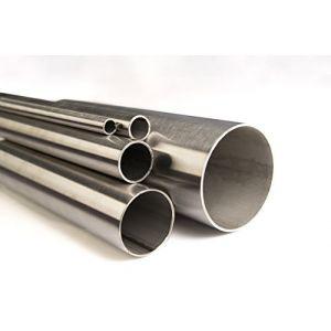Acier inoxydable V2A K240poli Tube Diamètre 12x 1,5mm jusqu'à Diamètre 114,3x 2mm Tube rond en acier inoxydable, Tube à 2mètres (2000mm) Longueur au choix, Ø 12 x 1,5mm (Länge 500mm), 1 (HLS_Tactical, neuf)