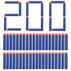 Topways® 200 pcs 7,2 cm Mousse Fléchettes Recharge Dards Refill Bullet pour Nerf N-grève N-Strike Elite série Blasters Pistolet Toy Gun ( Bleu 200 pcs ) (Topways FR, neuf)