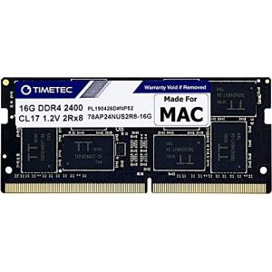 Timetec Hynix IC compatible with Apple 16GB DDR4 2400MHz PC4-19200 SODIMM Memory Upgrade For iMac Retina 4k/5K 21.5-inch/27-inch Mid 2017 (16GB) (Timetec Inc Europe, neuf)