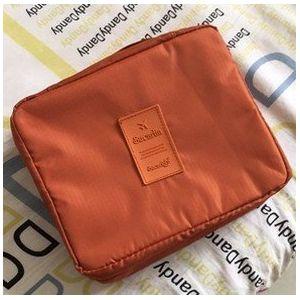 MZP Corée sac de lavage Kit de Voyage portable dame Voyage poche imperméable Voyage d'affaires Produits cosmétiques , orange (ZhongPing Miao, neuf)