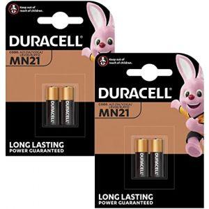 ONOGAL-Batterie 4X Duracell Alkaline Sécurité A23 / K23A Lrv08 Gp23 12V Mn21 2017 Lrv08 V23Ga Lr23A 23A L1028 Batterie 2665C_4 (P & F France, neuf)