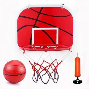 Mini Jeux de Basket Ball Kit Jouet Intérieur Extérieur - Panier de Basket + Panneau + Basket-ball avec Pompe à Air pour Adultes / Enfants (Ama Official, neuf)