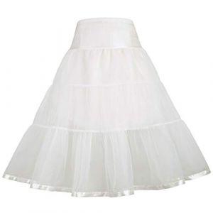 GRACE KARIN Jupon Vintage Vintage Tutu Cancan Jupon Rockabilly Beige 8~9 Ans CL35-3 (Grace Karin Fashion, neuf)