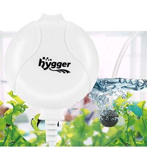 Hygger Pompe à Air pour Aquarium Super Silencieuse De<33db Électromagnétique Oxygène Mini Pompe pour Aquarium Jusqu'à 50l Réservoir À Poissons Ultra Silencieux Economiseur De Nano Énergie 1.5W (Blanc) (eumagob, neuf)
