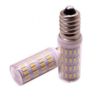 E14 Mini ampoule DEL à lampe de maïs, 3W 12V 24V, Tension de sécurité, remplace la lampe halogène 30W, SMD 4014 300 lumens, Blanc, paquet de 2 (Weixuan Lighting, neuf)