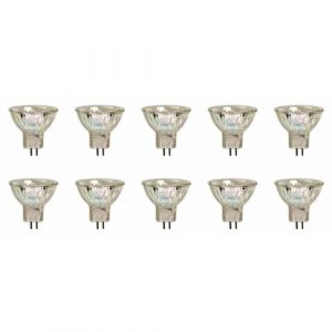 10 x GU4 Ampoule Halogène Dichroïque MR11, 12V, 20W, 35mm (ncc-design, neuf)